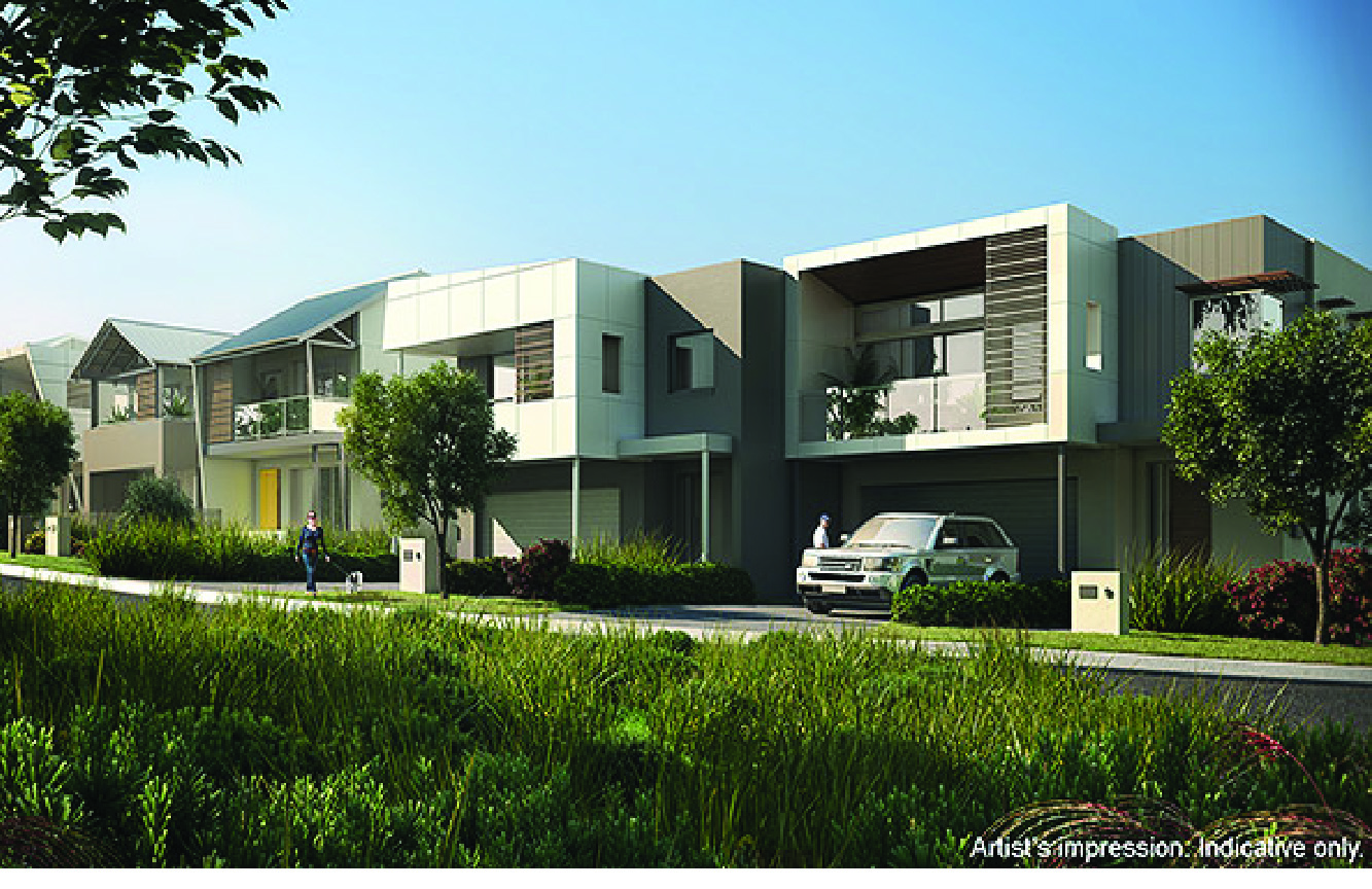 View of the exterior of Australand Shell Cove Alfresco Homes